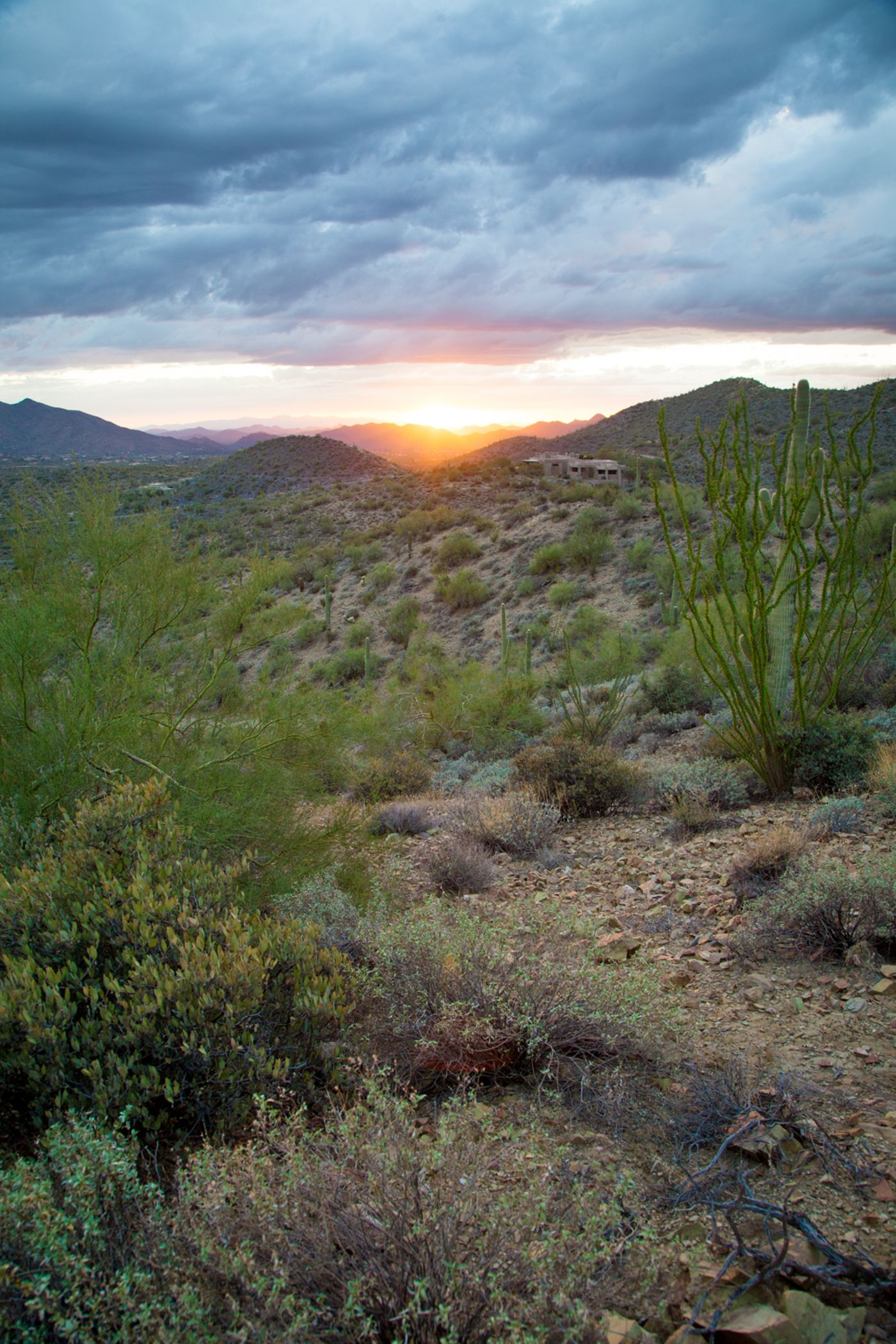 View at dusk from Carefree RAnch Homesteads